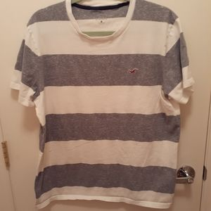 Hollister striped shirt size XL